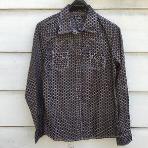 New CRUEL snap front women's western shirt L